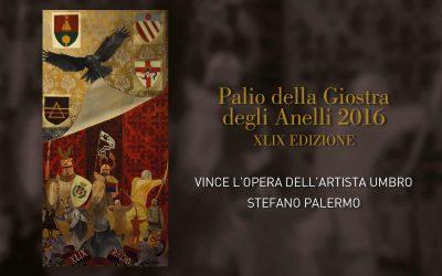 Ecco il Palio della Giostra degli Anelli, realizzato da Stefano Palermo