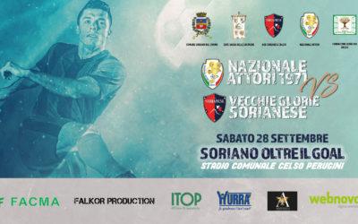 Soriano oltre il goal, partita di calcio tra la Nazionale Attori e le Vecchie Glorie della Sorianese